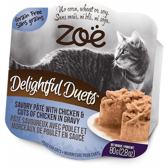Zoe Delightful Duets Chicken Cuts With Chicken Gravy, Canned Cat Food, Zoe Pet Food - PetMax Canada
