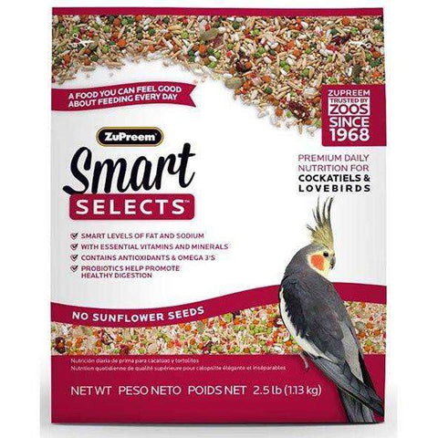 Zupreem Smart Selects Food Cockatiel & Lovebirds, Bird Food, Zupreem Premium Nutritional Product - PetMax