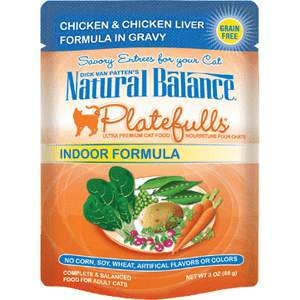 Natural Balance Platefulls Indoor Chicken  Canned Cat Food - PetMax