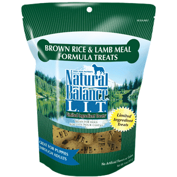 Natural Balance Dog Treats L.I.T. Rice & Lamb, Dog Treats, Natural Balance - PetMax Canada