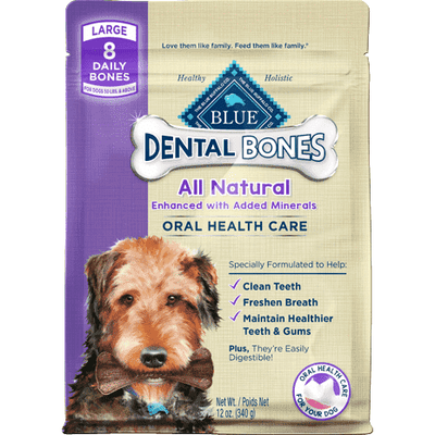 Blue Bones Large Dental Chews, Dog Treats, Blue Buffalo Company - PetMax Canada