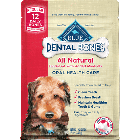 Blue Bones Regular Dental Chews, Dog Treats, Blue Buffalo Company - PetMax Canada