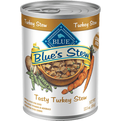 Blue's Stew Dog Can Tasty Turkey Stew, Canned Dog Food, Blue Buffalo Company - PetMax