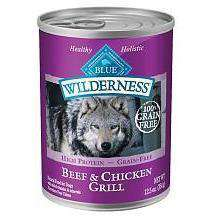 Blue Buffalo Wilderness Beef & Chicken Grill Canned Dog Food  Canned Dog Food - PetMax