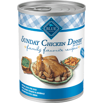 Blue Buffalo Family Favorite Recipe Sunday Chicken Dinner, Canned Dog Food, Blue Buffalo Company - PetMax