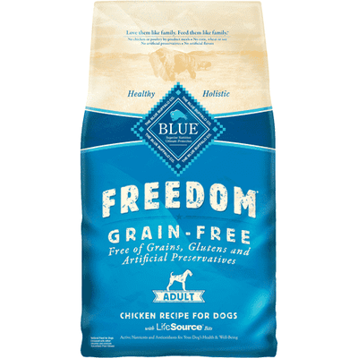 Blue Freedom Adult Dog Food Chicken Recipe, Dog Food, Blue Buffalo Company - PetMax Canada