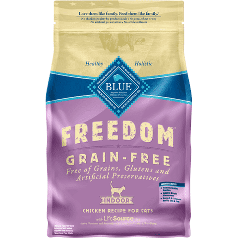 Blue Freedom Cat Food Indoor Grain Free Chicken, Dry Cat Food, Blue Buffalo Company - PetMax Canada