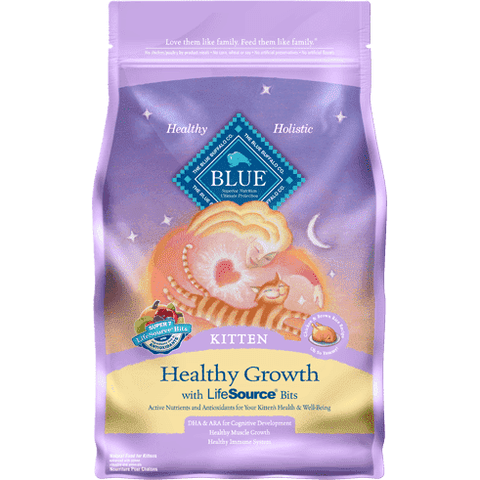 Blue Buffalo Kitten Healthy Growth Chicken & Rice, Dry Cat Food, Blue Buffalo Company - PetMax Canada