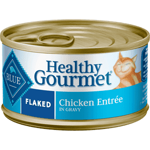 Blue Healthy Gourmet Flaked Chicken, Canned Cat Food, Blue Buffalo Company - PetMax