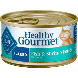 Blue Healthy Gourmet Flaked Fish & Shrimp  Canned Cat Food - PetMax