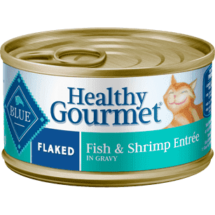 Blue Healthy Gourmet Flaked Fish & Shrimp, Canned Cat Food, Blue Buffalo Company - PetMax