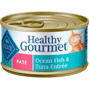 Blue Healthy Gourmet Pate Ocean Fish & Tuna, Canned Cat Food, Blue Buffalo Company - PetMax Canada
