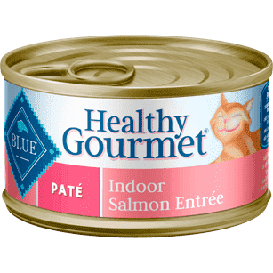Blue Healthy Gourmet Pate Indoor Salmon, Canned Cat Food, Blue Buffalo Company - PetMax