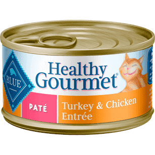 Blue Healthy Gourmet Pate Turkey & Chicken, Canned Cat Food, Blue Buffalo Company - PetMax