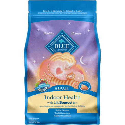 Blue Buffalo Cat Food Indoor Health Adult Chicken & Rice  Dry Cat Food - PetMax