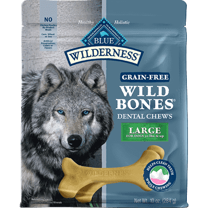 Blue Buffalo Wilderness Wild Bones Large  Dog Treats - PetMax