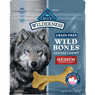 Blue Buffalo Wilderness Wild Bones Medium  Dog Treats - PetMax