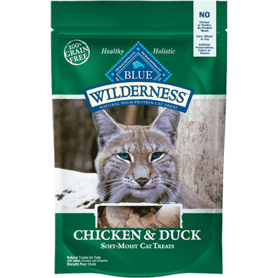 Blue Wilderness Cat Treats Chicken & Duck, Cat Treats, Blue Buffalo Company - PetMax Canada