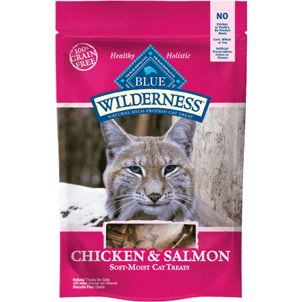 Blue Wilderness Cat Treats Chicken & Salmon, Cat Treats, Blue Buffalo Company - PetMax Canada