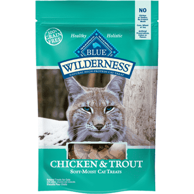 Blue Buffalo Wilderness Cat Treats Chicken & Trout, Cat Treats, Blue Buffalo Company - PetMax Canada