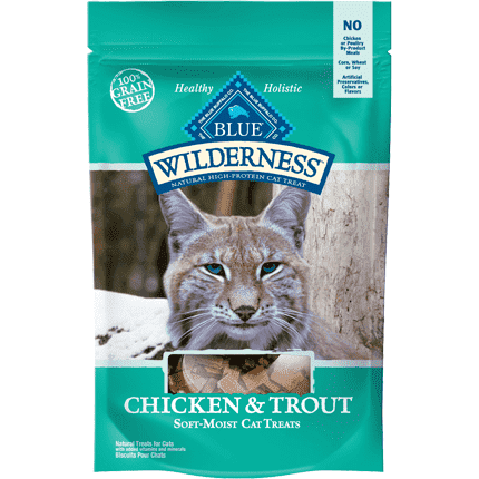 Blue Buffalo Wilderness Cat Treats Chicken & Trout, Cat Treats, Blue Buffalo Company - PetMax