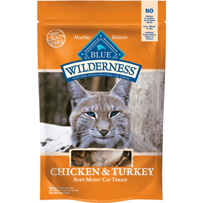 Blue Buffalo Wilderness Cat Treats Chicken & Turkey, Cat Treats, Blue Buffalo Company - PetMax Canada