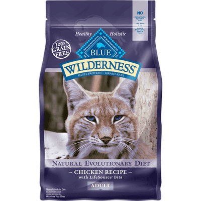 Blue Buffalo Wilderness Cat Food Adult Chicken, Dry Cat Food, Blue Buffalo Company - PetMax Canada