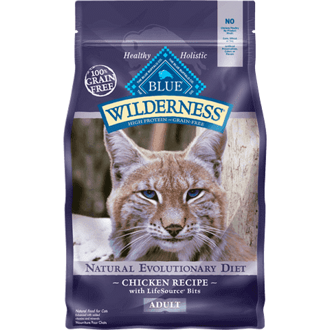 Blue Buffalo Wilderness Cat Food Adult Chicken, Dry Cat Food, Blue Buffalo Company - PetMax