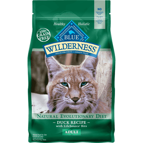 Blue Buffalo Wilderness Cat Food Adult Duck, Dry Cat Food, Blue Buffalo Company - PetMax