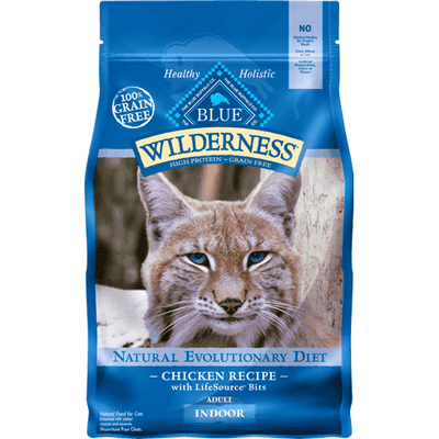 Blue Buffalo Wilderness Cat Food Indoor, Dry Cat Food, Blue Buffalo Company - PetMax Canada