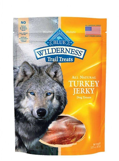 Blue Buffalo Wilderness Dog Trail Treats Turkey Jerky, Dog Treats, Blue Buffalo Company - PetMax Canada