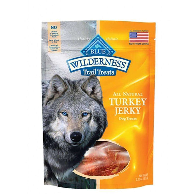 Blue Buffalo Wilderness Dog Trail Treats Turkey Jerky  Dog Treats - PetMax