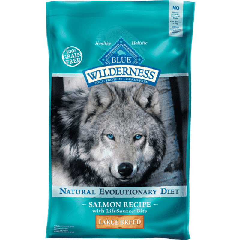 Blue Buffalo Wilderness Dog Food Large Breed Salmon  Dog Food - PetMax