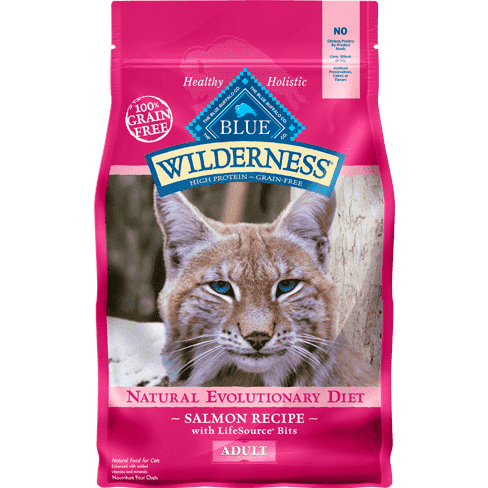 Blue Buffalo Wilderness Cat Food Adult Salmon Dry Cat Food [variant_title] [option1] - PetMax.ca