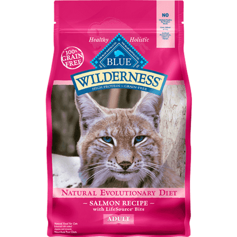 Blue Buffalo Wilderness Cat Food Adult Salmon, Dry Cat Food, Blue Buffalo Company - PetMax Canada