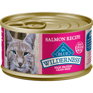 Blue Buffalo Wilderness Canned Cat Food Salmon  Canned Cat Food - PetMax