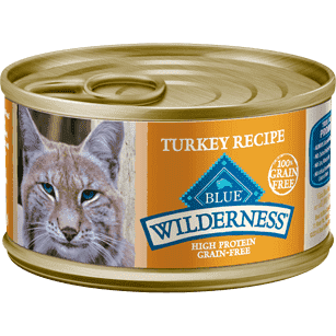 Blue Buffalo Wilderness Canned Cat Food Turkey  Canned Cat Food - PetMax