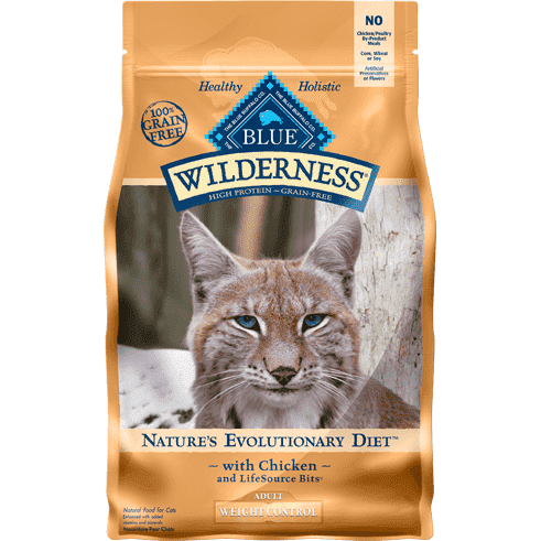 Blue Buffalo Wilderness Cat Food Adult Weight Control Dry Cat Food [variant_title] [option1] - PetMax.ca