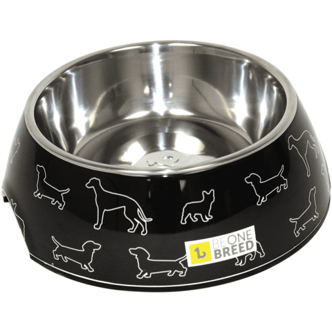 Be One Breed Melamine Bowl Black Doggies, Dog Dishes, Be One Breed - PetMax Canada