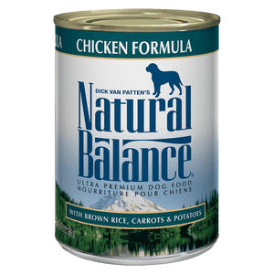 Natural Balance Canned Dog Food Chicken & Rice  Canned Dog Food - PetMax