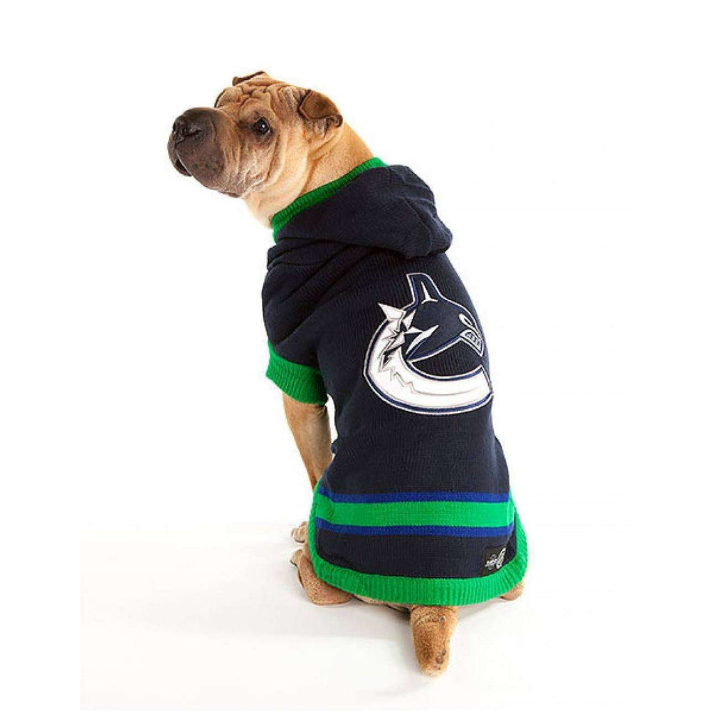 NHL Vancouver Canucks Sweater Dog Clothing [variant_title] [option1] - PetMax.ca