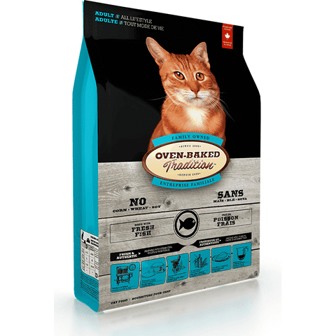 Oven Baked Tradition Cat Adult Fish, Dry Cat Food, Bio Biscuit Inc. - PetMax Canada
