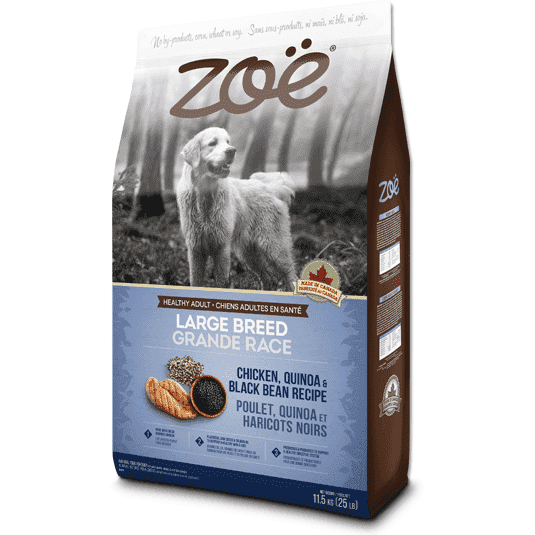 Zoe Dog Adult Large Breed Chicken, Quinoa & Bean, Dog Food, Rolf C Hagen Inc. - PetMax Canada