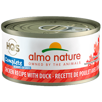 Almo Nature Complete Chicken With Duck In Gravy  Canned Cat Food - PetMax