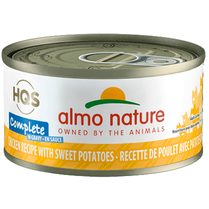 Almo Nature Complete Chicken With Sweet Potato In Gravy  Canned Cat Food - PetMax