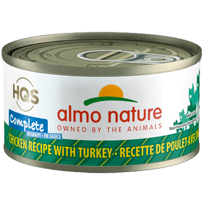 Almo Nature Complete Chicken With Turkey In Gravy  Canned Cat Food - PetMax