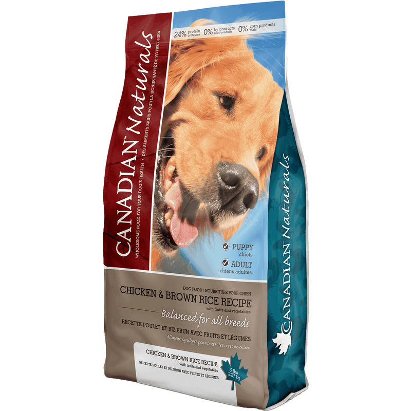 Canadian Naturals Chicken & Brown Rice  Dog Food - PetMax