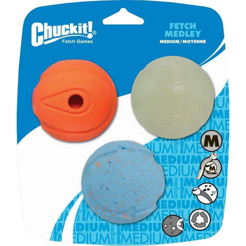 Chuck It Fetch Medley Balls, Dog Toys, Canine Hardware - PetMax Canada