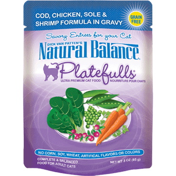 Natural Balance Platefulls Cod, Chicken, Sole, & Shrimp Wet Cat Food  Canned Cat Food - PetMax