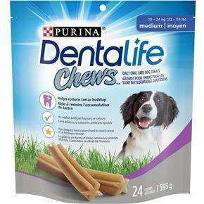 Purina Dentalife Oral Care Dental Chews Medium - 595g Dog Treats - PetMax